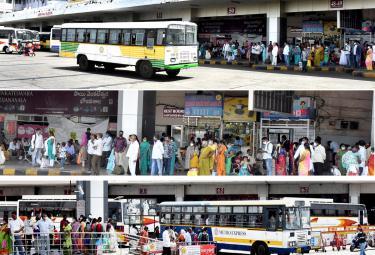 Huge Crowd in Vijayawada Bus Station Photo Gallery - Sakshi
