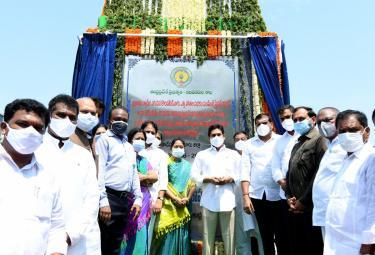 CM YS Jagan Lays Foundation Stone For Krishna River Karakatta - Sakshi