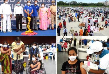 Mega Vaccination Drive At Hitex Exhibition Photos - Sakshi