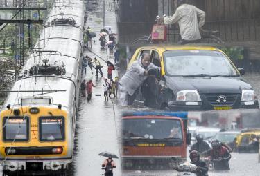 Heavy Rains Lashes Mumbai Photo Gallery - Sakshi