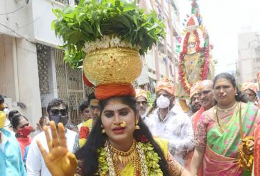 Telangana Bonalu Celebrations In Vijayawada Kanaka Durgamma Temple Photo Gallery - Sakshi