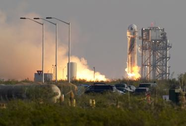 Jeff Bezos and Crew Complete Successful Space Flight Photo Gallery - Sakshi