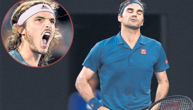 Stefanos Tsitsipas dumps Roger Federer out of Australian Open - Sakshi