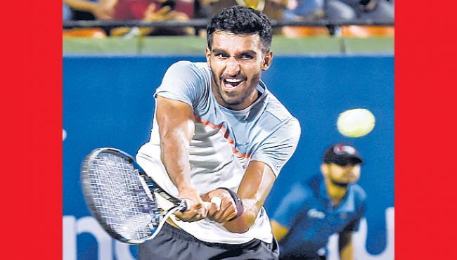 prajnesh gunneswaran loss the first match - Sakshi