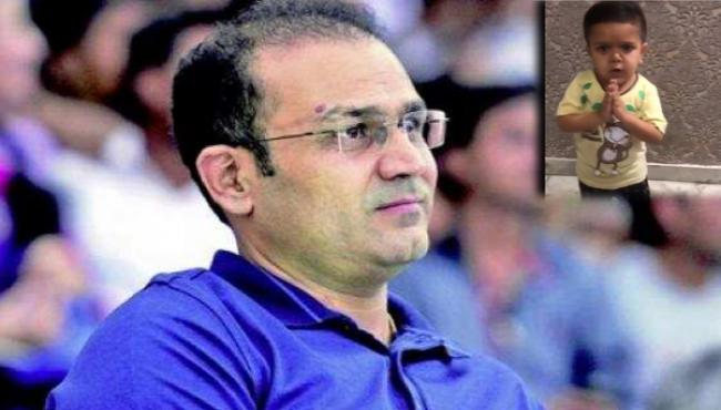 Sehwag Posts Video Of Child Spelling Out Covid 19 Directives - Sakshi
