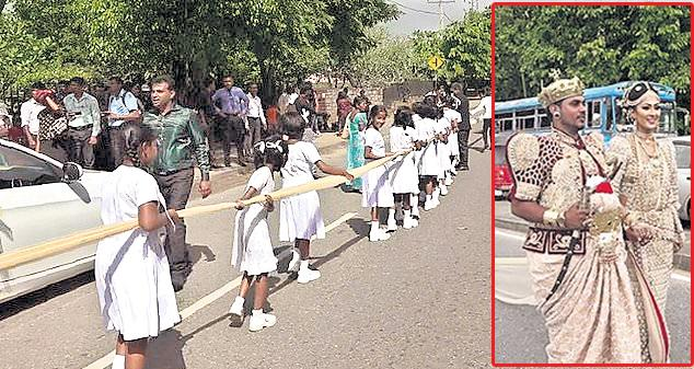 Couple Used 250 Students To Carry 'Longest Saree