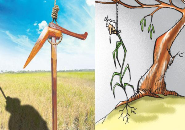 22 farmers committed suicide in telugu states in a month - Sakshi