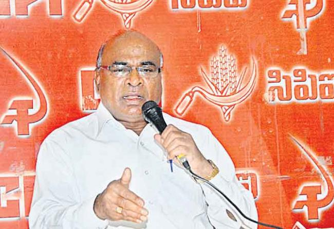 CPI Leader Chada Venkat Reddy Fires on TRS Government