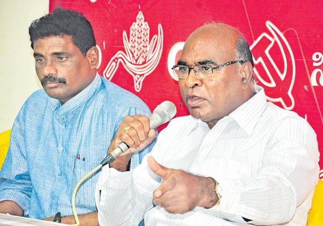 chada venkata reddy commented over trs