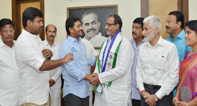 Anakapalli Congress leader Danthuluri Dilip Kumar joins ysr congress party - Sakshi