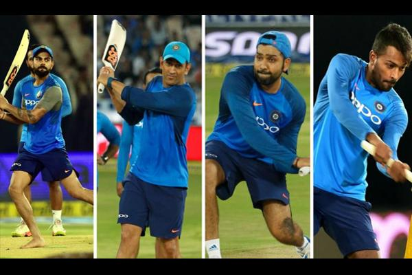 Team India Batsmen batted with left-handed in Uppal