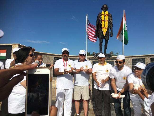 Gandhi 148th Birth anniversary celebrations in Dallas