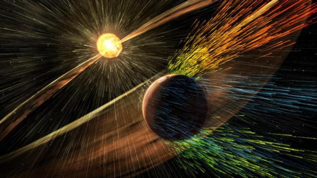 Huge Solar Cyclone hits Mars