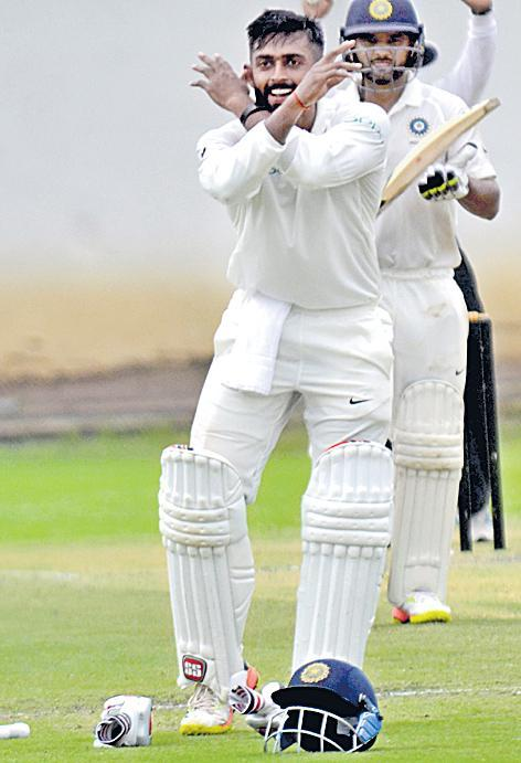 Ankit Bawne big century helps to india A 447 at first innings