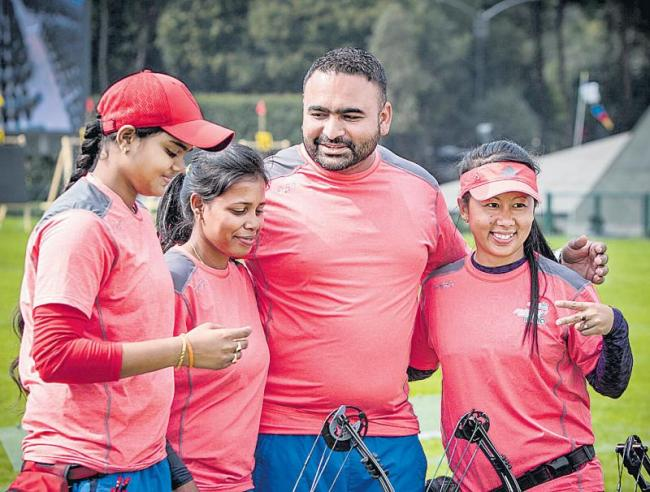 Indian team in World Archery Championship Final
