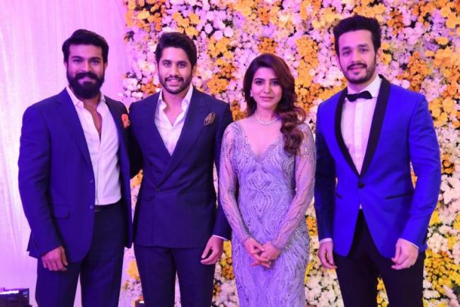 chaysam reception photos - Sakshi