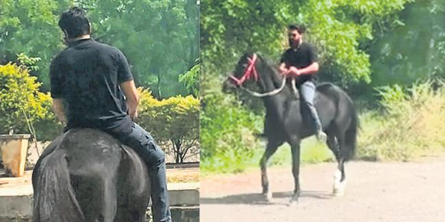 Ram Charan Real Life Horse Riding - Sakshi