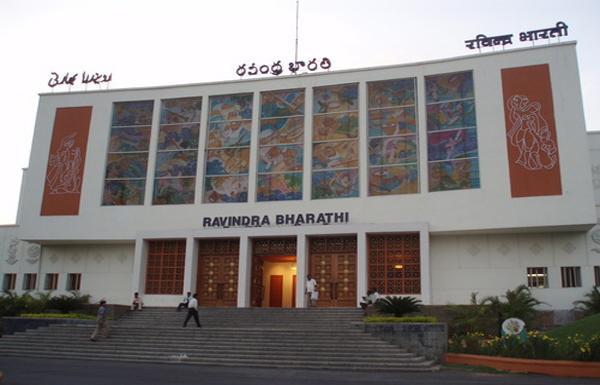 fire accident at Ravindra Bharathi - Sakshi