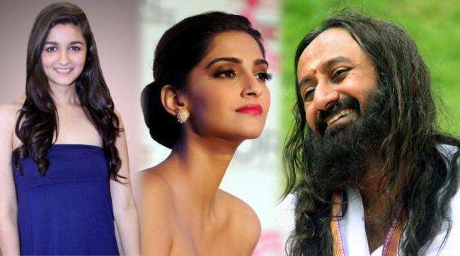 Bollywood Actresses Fire on Sri Sri Ravishankar - Sakshi