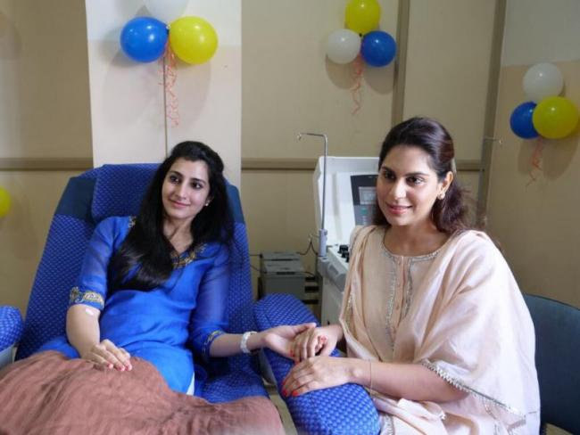 Upasana, Brahmani at Blood donation Camp - Sakshi - Sakshi - Sakshi