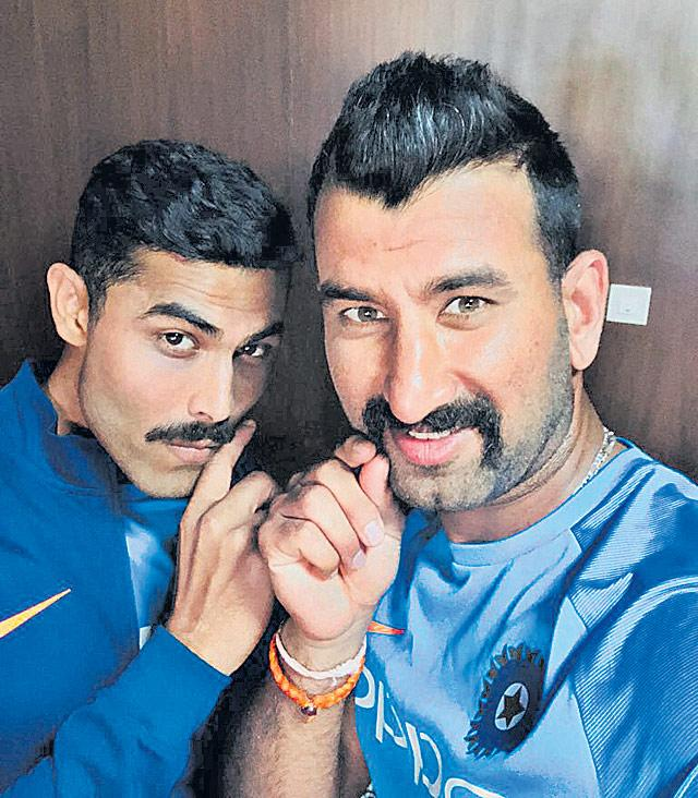 Cheteshwar Pujara, Ravindra Jadeja rise to No. 2 in ICC Test Rankings - Sakshi