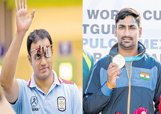ommonwealth Shooting Championships golden medals - Sakshi