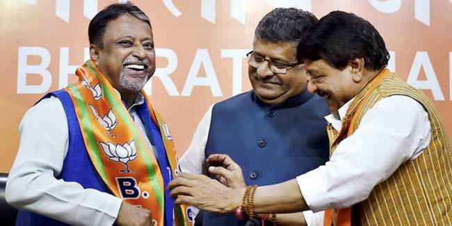 Former TMC leader Mukul Roy joins BJP - Sakshi