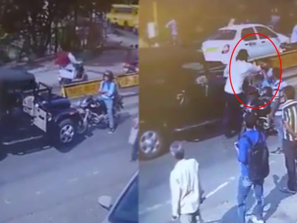 Wrong Route Biker Attacked in Bhopal - Sakshi