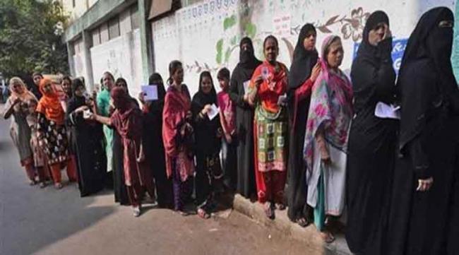 68.41% voting in Gujarat elections - Sakshi