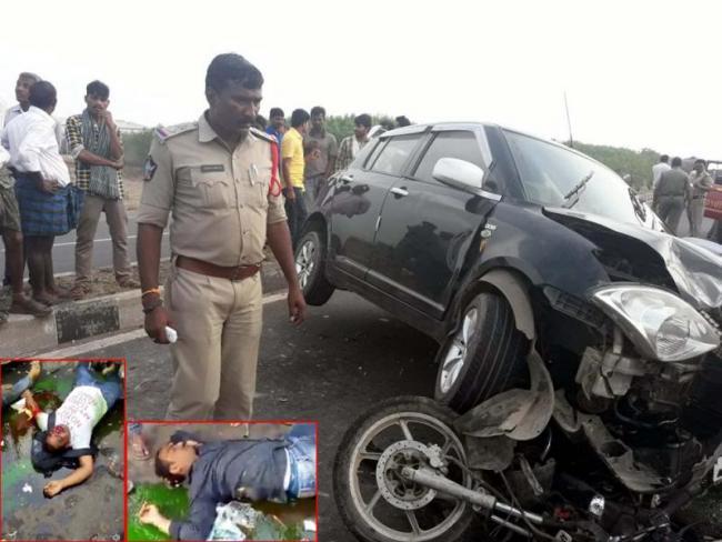 nri death in road accident - Sakshi