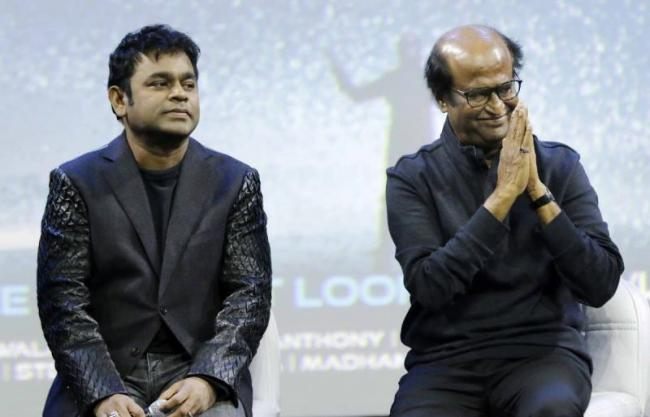 Rahman clarifies rumours about Superstar Rajini singing - Sakshi