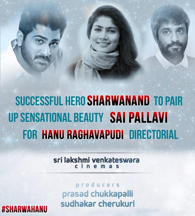 saipallavi pairup with sarwanand in hanuraghavapudi film - Sakshi