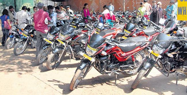 Unregistered vehicles are confiscated! - Sakshi