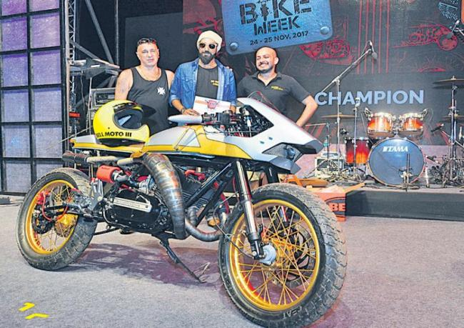 India Bike Week Trophy to Hyderabad boy for customized Bike - Sakshi