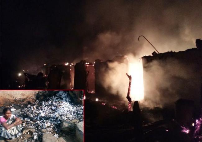 Nine Hoveels Smash In Fire Accident - Sakshi