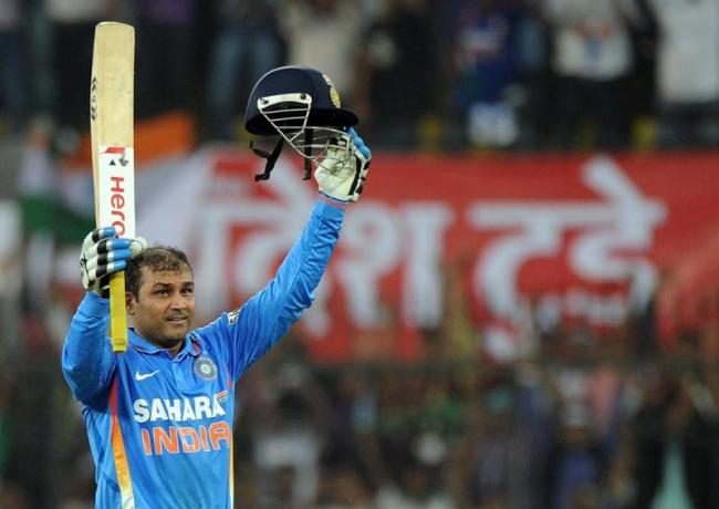 OnThisDay virendersehwag scored the second ever ODI double century  - Sakshi