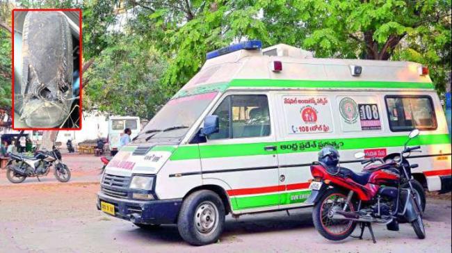 ap govt neglecting 108 vehicles - Sakshi