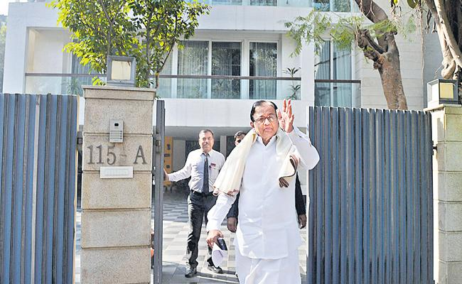 ED raids Karti Chidambaram's premises in Delhi, Chennai  - Sakshi