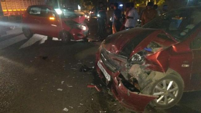 road accident in medchal - Sakshi