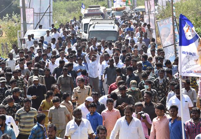 ys jagan padayatra in chittoor district - Sakshi