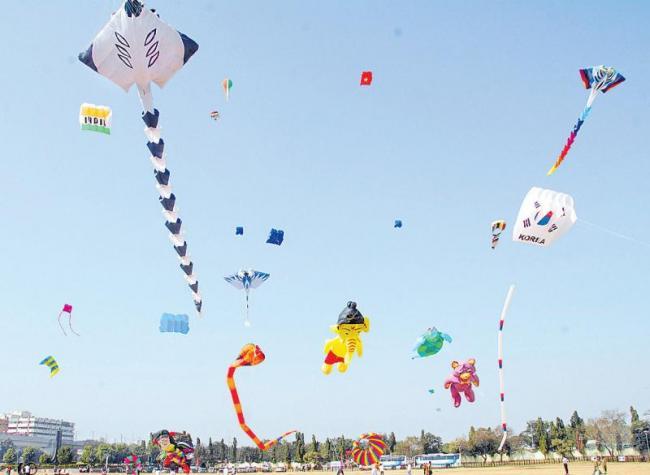 Kite Festival started in the city - Sakshi