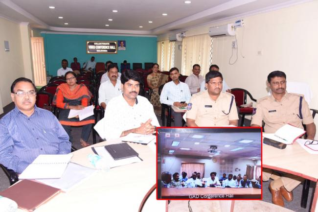ministers video conference with district officers - Sakshi