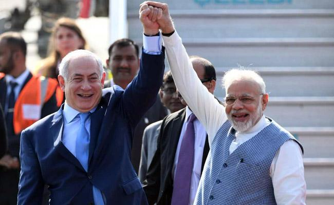 israel pm Netanyahu visit to india - Sakshi