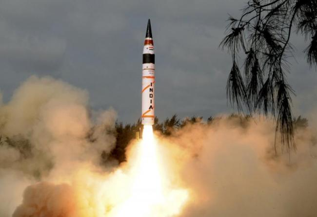 India successfully test-fires nuclear capable Agni-5 ballistic missile - Sakshi