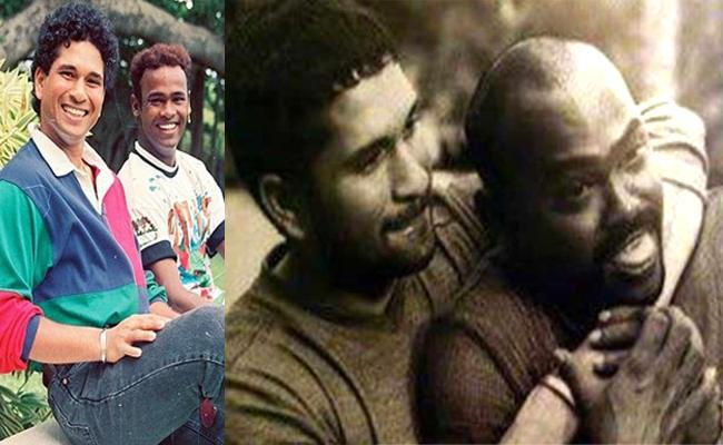 sachin birthday wishes to childhood friend Vinod Kambli - Sakshi