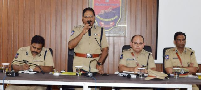 DGP Mahender Reddy Review Meeting with Police Officers - Sakshi
