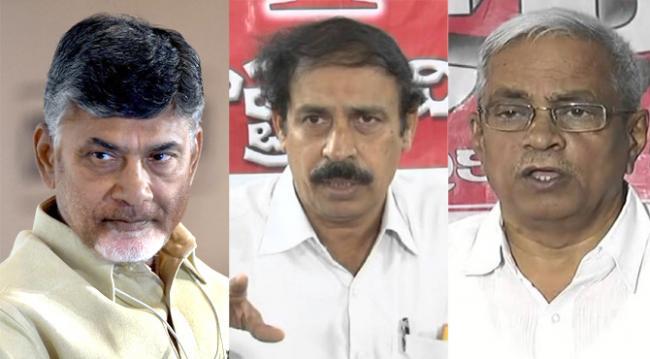 Left leaders fire on cm chandrababu - Sakshi