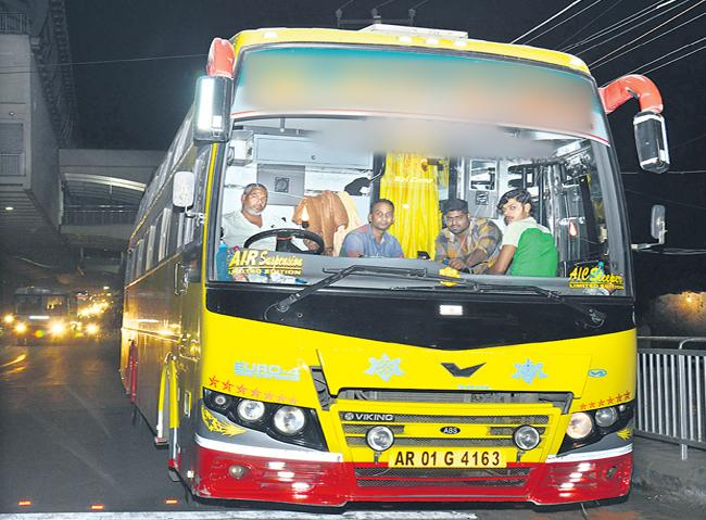 Government given the permissions to the private buses - Sakshi