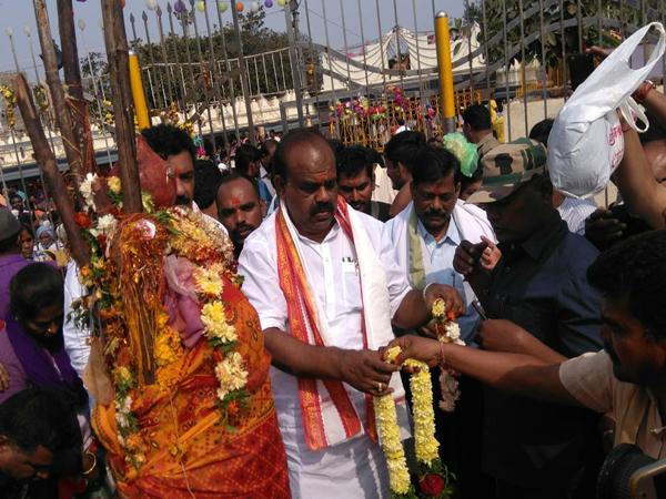 speaker madhusudhana chary visits medaram - Sakshi