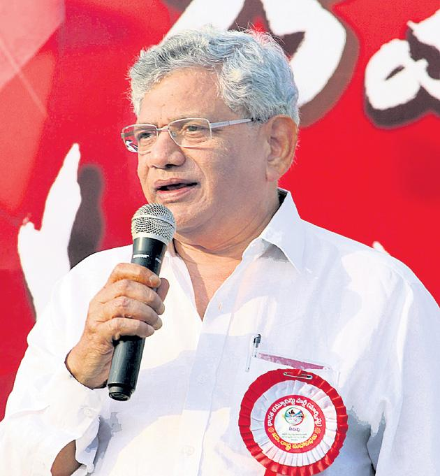 sitaram yechury blames on chandra babu naidu - Sakshi